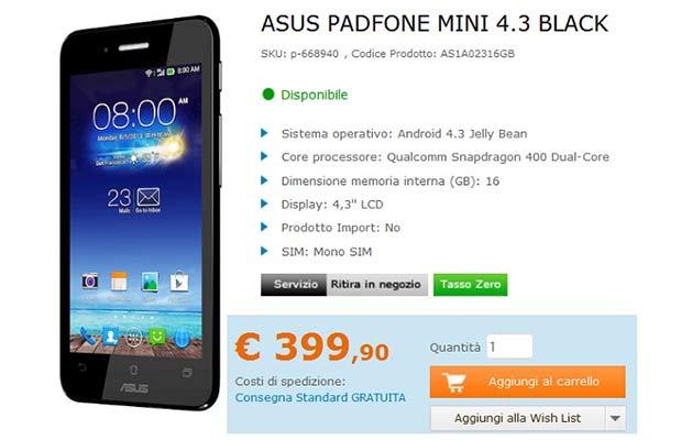 Asus Padfone Mini 4,3