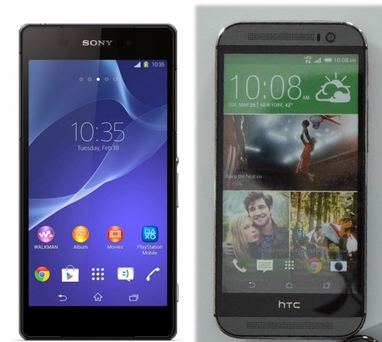 sony xperia z2 vs htc m8