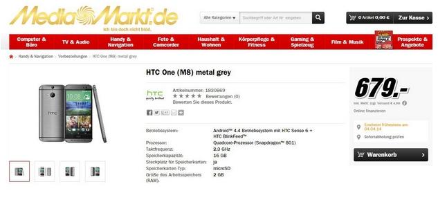 Prezzo HTC One M8