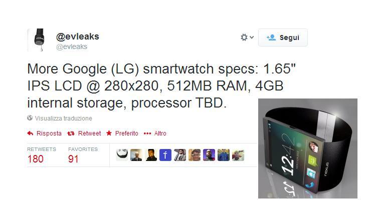 Smartwatch Google e LG