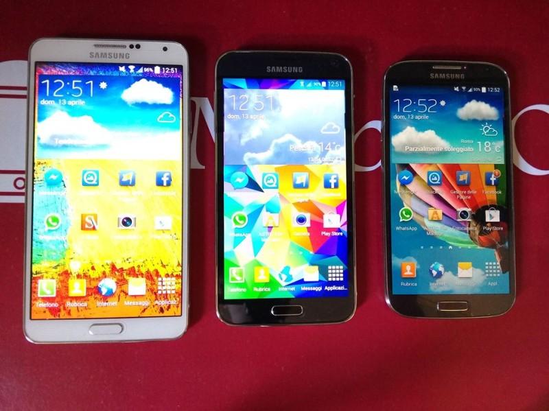 Samsung Galaxy S5 VS Galaxy S4 VS Galaxy Note 3