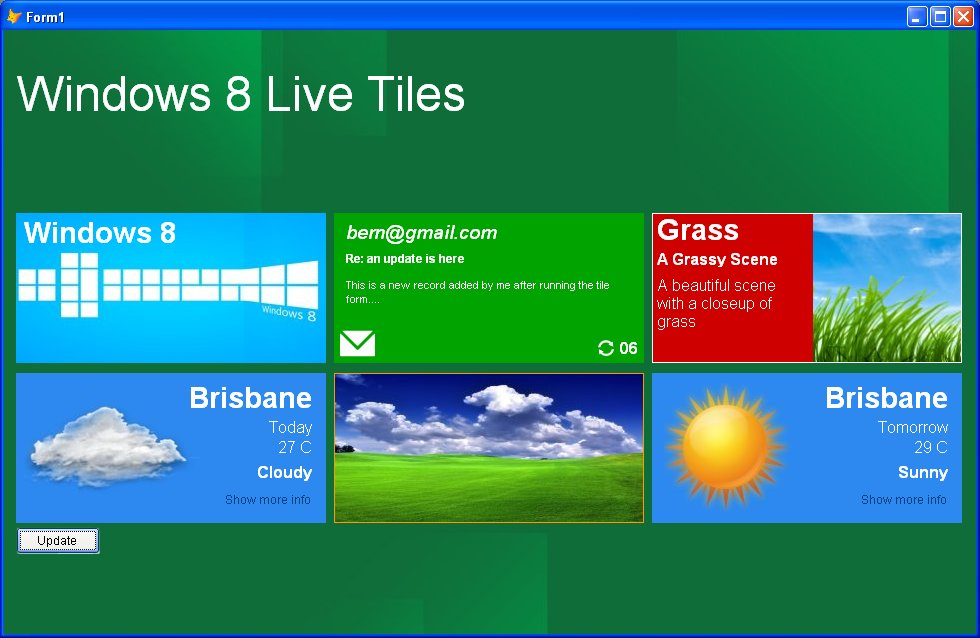 Windows Live Tiles