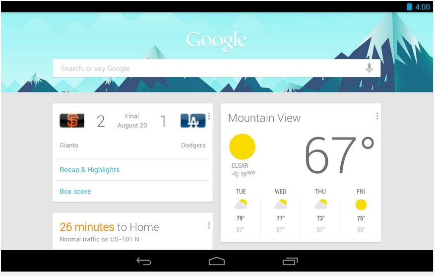 google now principale