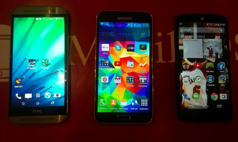 Htc One M8 VS Samsung Galaxy S5 VS Google Nexus 5