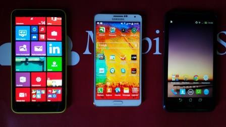 Samsung Galaxy Note 3 VS Asus Fonepad Note 6 VS Nokia Lumia 1320