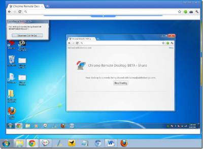 Chrome-Remote-Desktop-BETA-connected