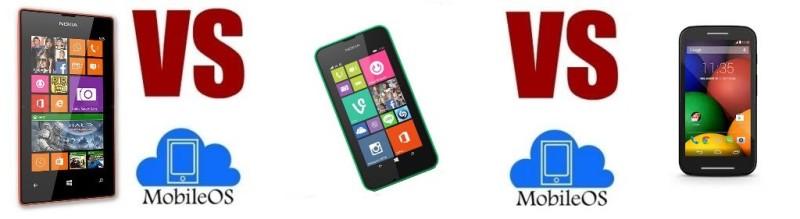 Nokia Lumia 530 VS Motorola Moto E VS Nokia Lumia 525