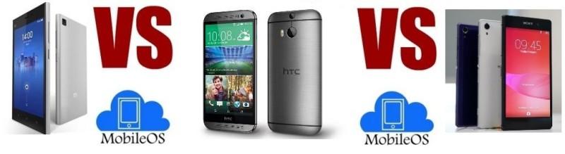 Xiaomi Mi4 VS HTC One M8 VS Sony Xperia Z2