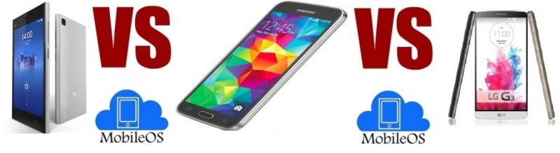 Xiaomi Mi4 VS Samsung Galaxy S5 VS LG G3
