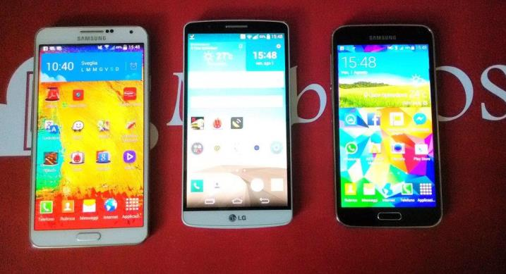 LG G3 VS Samsung Galaxy S5 VS Samsung Galaxy Note 3