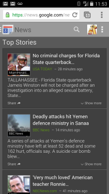 aggiornamenti google news.