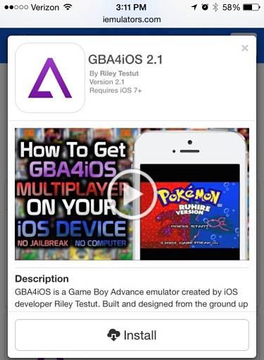 emulatore GBA4iOS