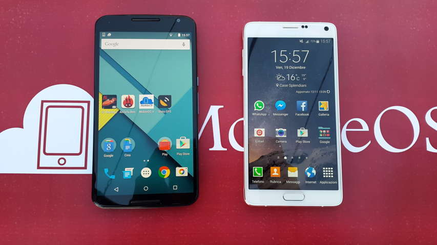 Nexus 6 VS Samsung Galaxy Note 4 MIN