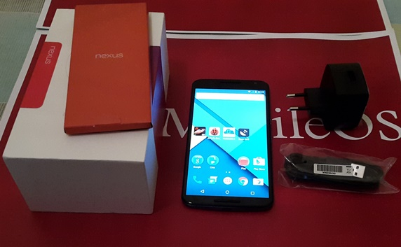nexus 6 scatola confezione