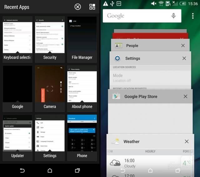 Recent-Apps-switcher-and-active-applications---Sense-UI-w-KitKat-left-vs-Sense-UI-w-Lollipop-right (1) definitivo