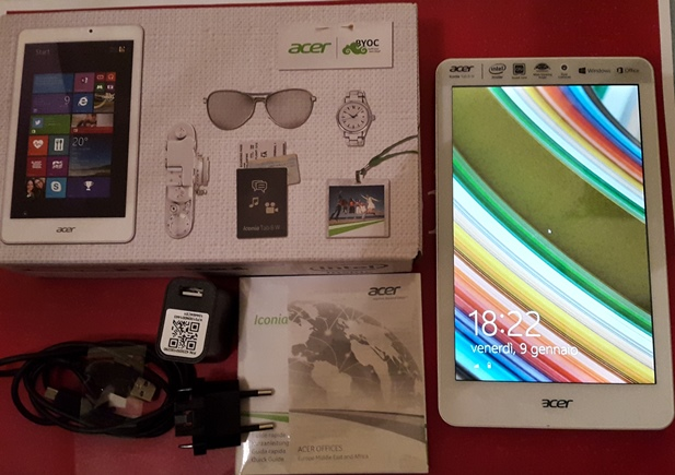 Video Unboxing Acer Iconia 8W W1-810