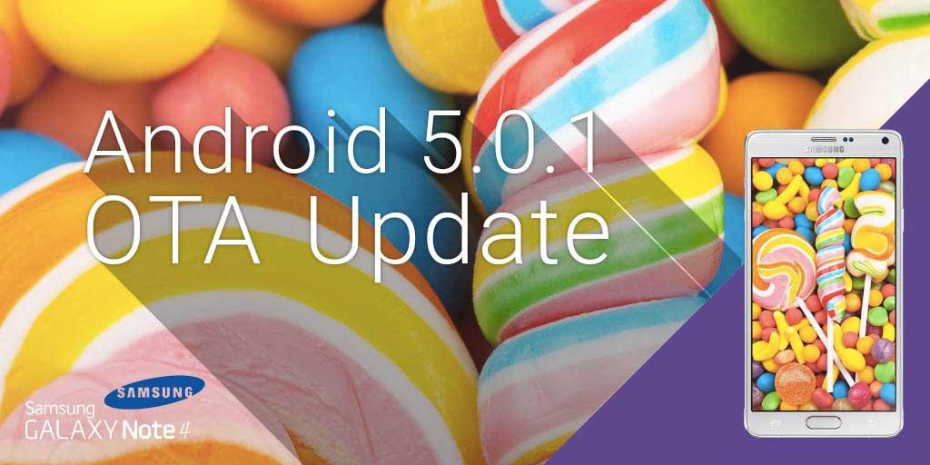 Aggiornamento Samsung Galaxy Note 4