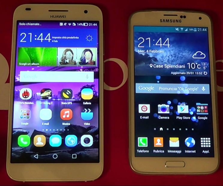Samsung Galaxy S5 VS Huawei Ascend G7