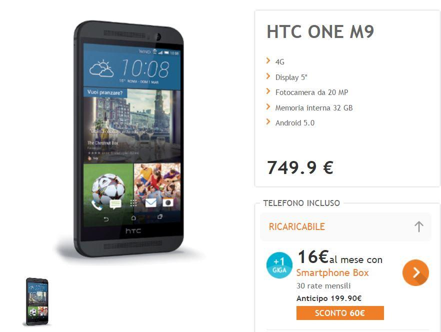 Offerte HTC One M9 Wind