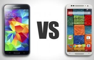 Samsung Galaxy S5 VS Motorola Moto X 2014 Samsung