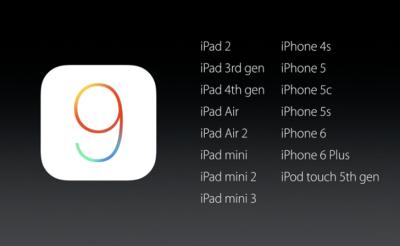 iOS 9 .... FInalmente il lancio ufficiale e le novità