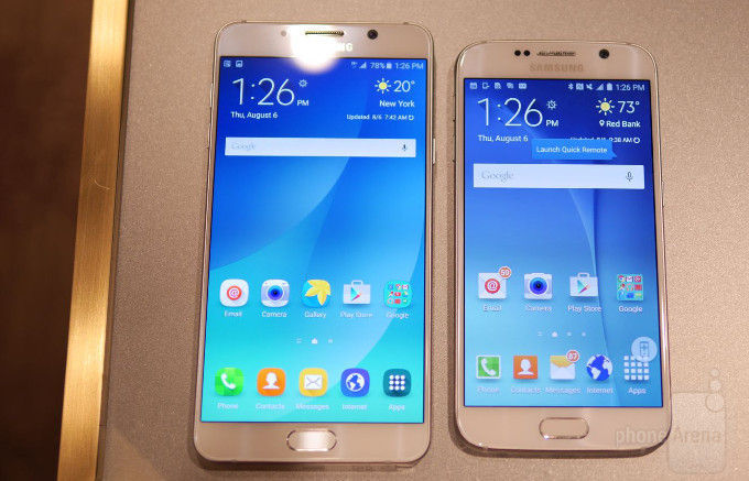 Samsung Galaxy Note 5 VS Galaxy S6