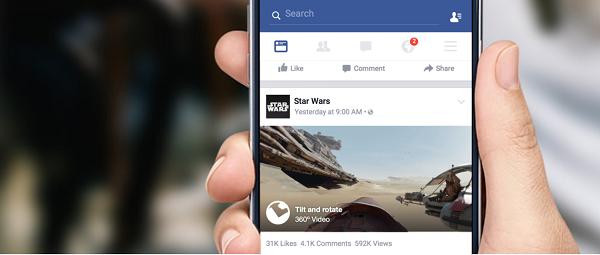 Video 360 gradi Facebook