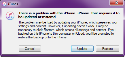 Successivamente si aprirà una finestra in pop-up dove ci verrà richiesto di ripristinare, prima di procedere con l'update