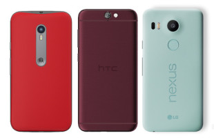 HTC One A9 vs Motorola Moto G (2015) vs Google Nexus 5X