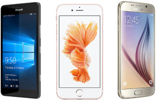Microsoft Lumia 950 vs Apple iPhone 6 vs Samsung Galaxy S6 Header