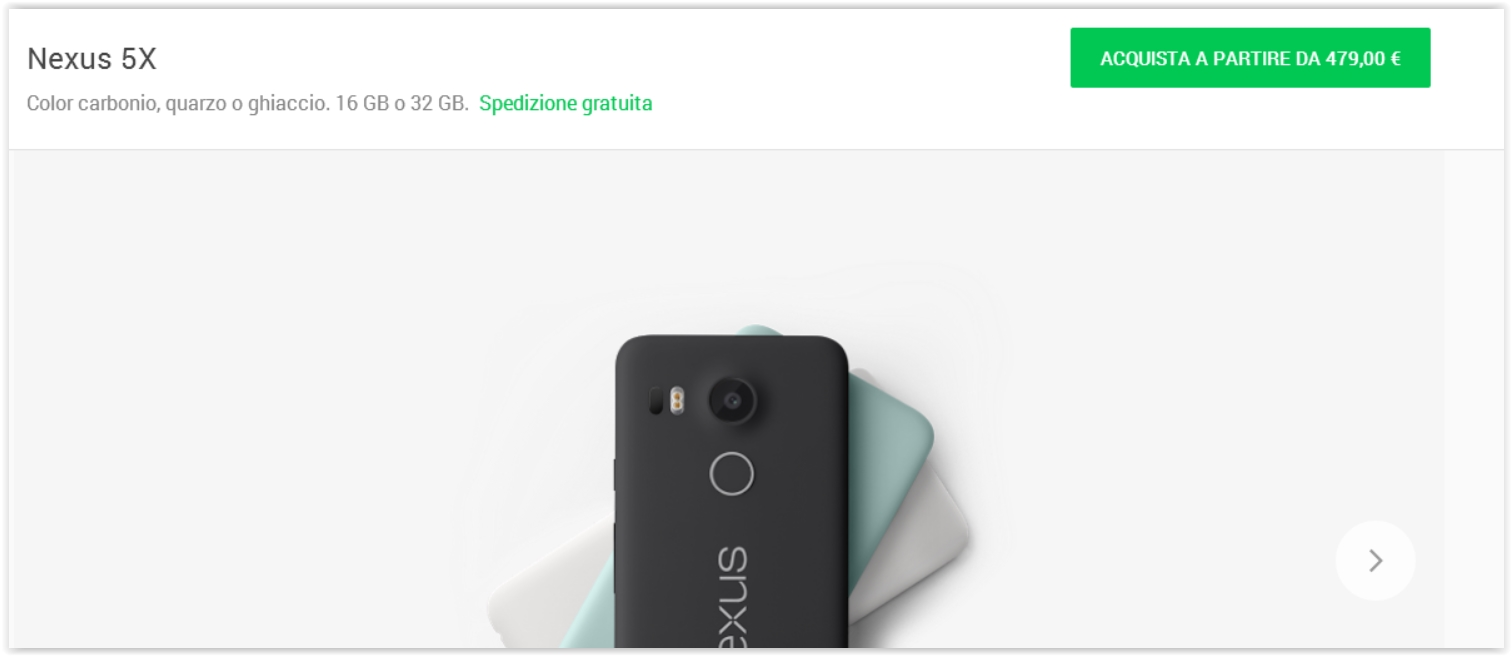 Pre Ordine Nexus 5x
