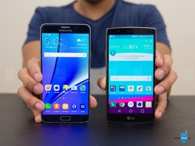 Samsung Galaxy Note 5 vs LG G4
