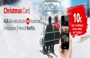 Vodafone Christmas Card 2015 4GB internet e 3 mesi Netflix a 10€