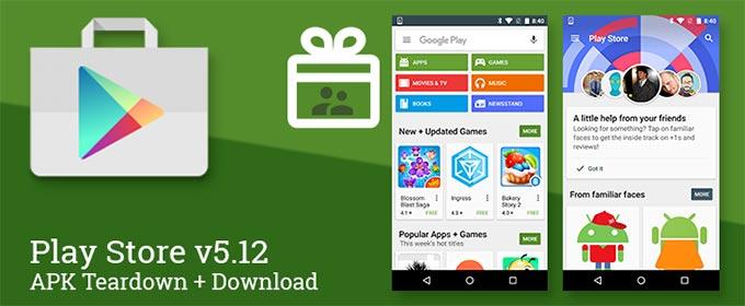 Aggiornamento Google Play Store 5.12