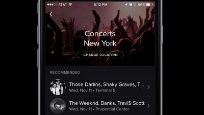 avviso concerto Spotify