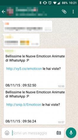 emoticon whatsapp spam