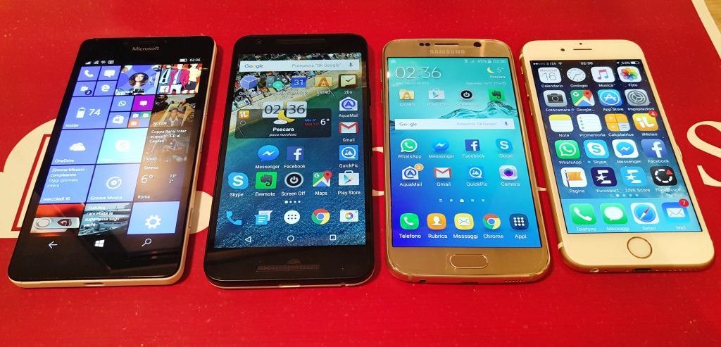 Galaxy S6 VS iPhone 6S VS Lumia 950 VS Nexus 5x