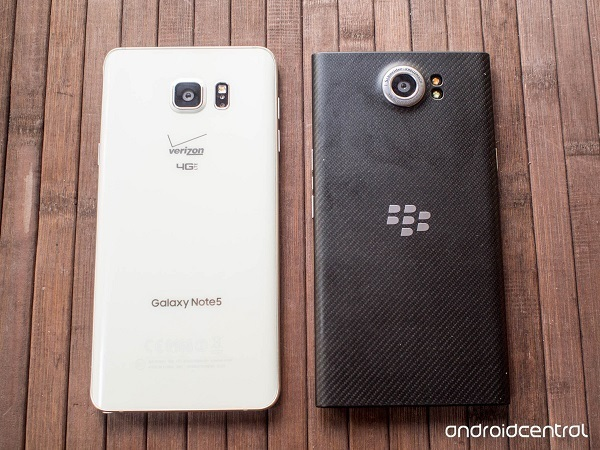 Samsung Galaxy Note 5 vs BlackBerry Priv