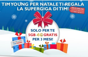 Tim Young 5GB di Internet Gratis 4G per 3 Mesi supergiga