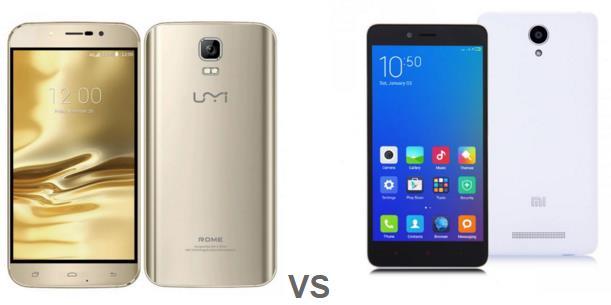 UMi Rome VS Xiaomi Redmi Note 2