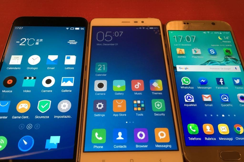 Video Confronto MEIZU Pro 5 VS Xiaomi Redmi Note 3 VS Galaxy S6 samsung