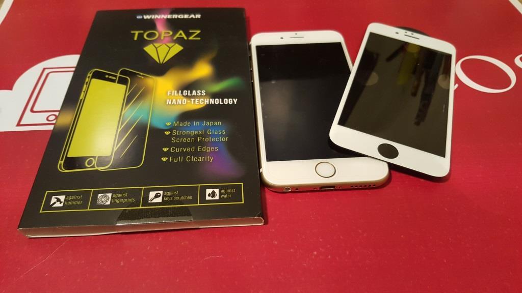WinnerGear TOPAZ Pellicola Ultraresistente in Vetro Temperato con Copertura Totale iPhone 6 e 6s