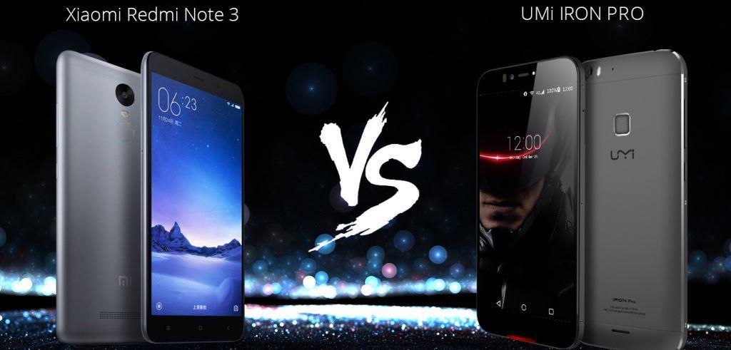 Xiaomi Redmi Note 3 VS UMi Iron Pro