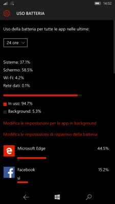 lumia 550 test batteria