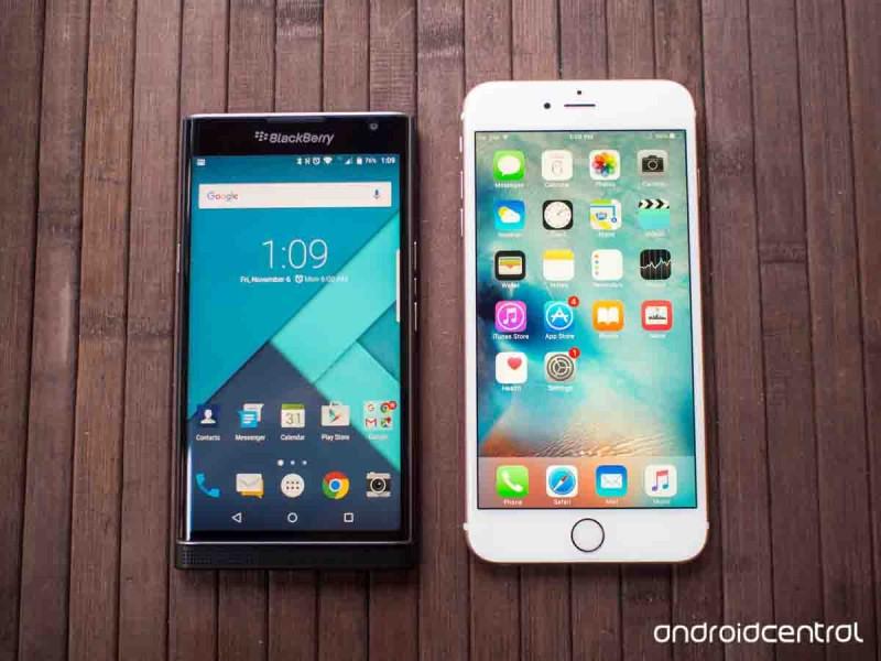BlackBerry Priv VS iPhone 6s Plus