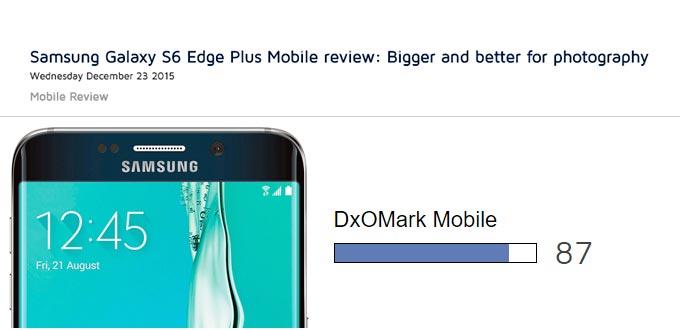 Fotocamera Samsung galaxy S6 EDGE Plus