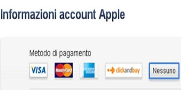Creare account Apple senza carta di credito