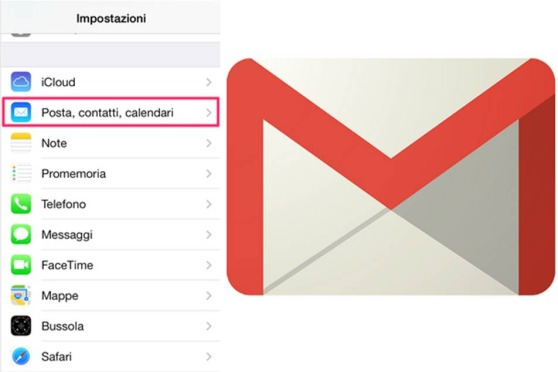 Rimuovere l'account di Gmail da iPhone
