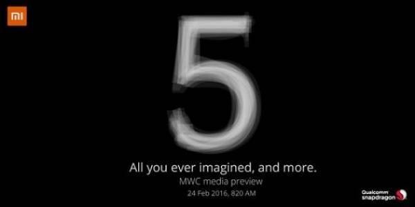 Uscita Xiaomi Mi 5