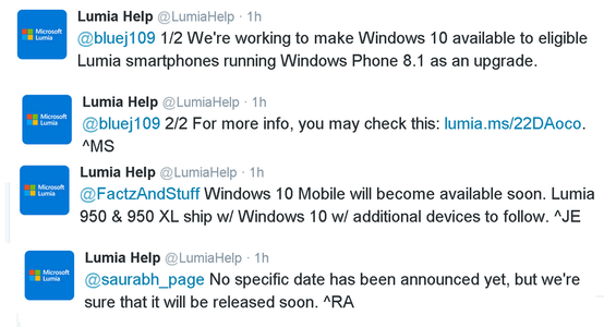 aggiornamento windows 10 mobile
